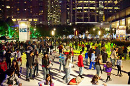The public is invited to the grand opening celebration of The ICE on Tuesday, November 25, 2014. The ICE at Discovery Green will be open daily through Sunday, February 8, 2014.
