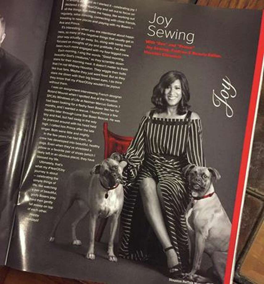 Houston Chronicle's Joy Sewing in the December 2016 issue of PetTalk Magazine. Photo: Joy Sewing