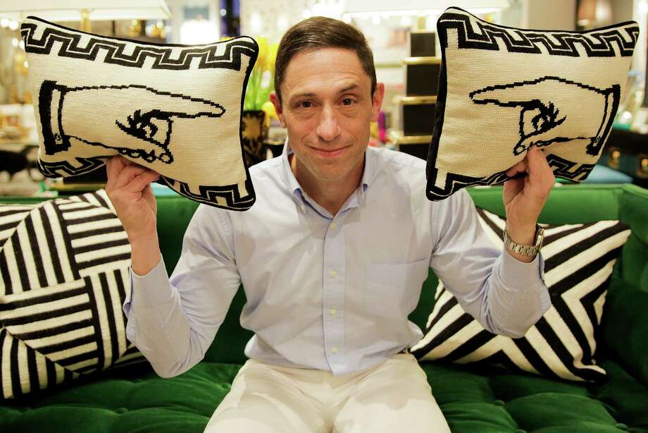 Jonathan Adler's irreverent wit influences the work in his home design firm. His namesake store in Houston is in West Ave, on Kirby. Photo: Elizabeth Conley, Houston Chronicle / © 2016 Houston Chronicle