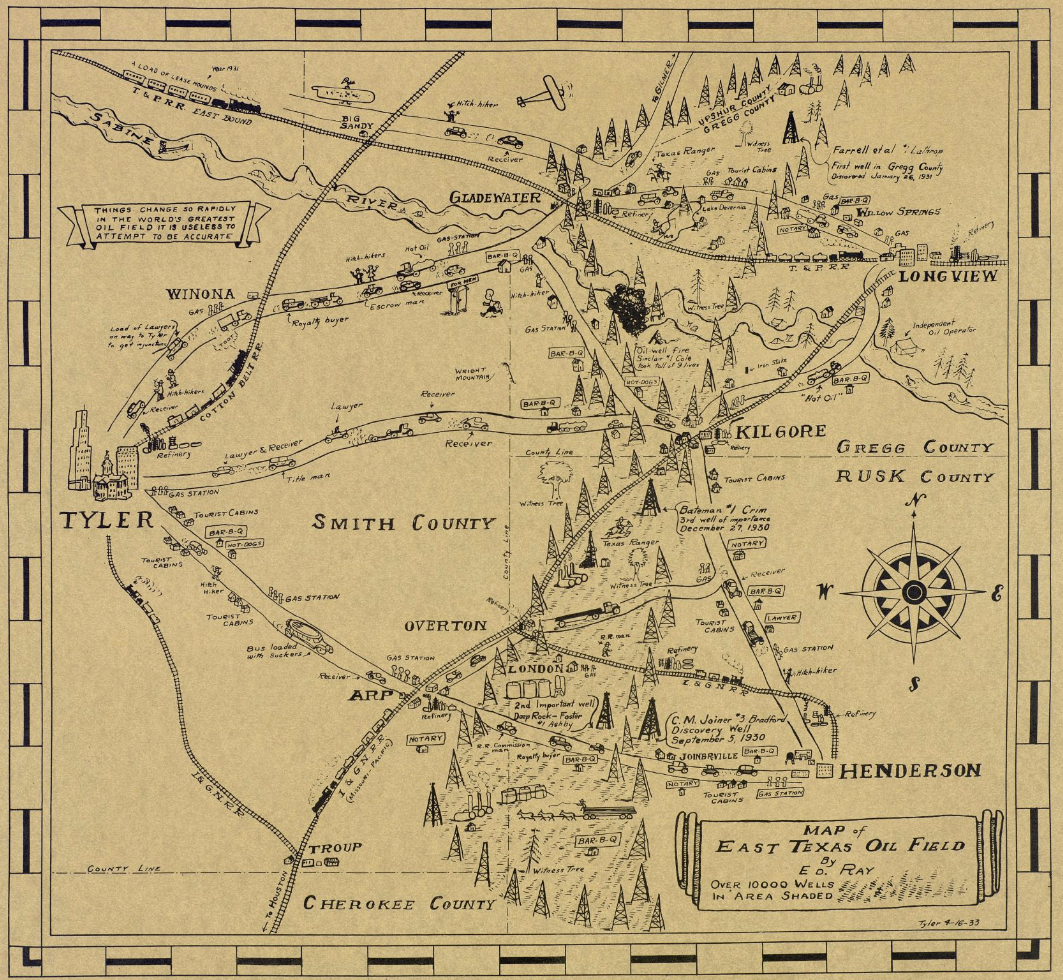 Old map of Texas oilfields is a trip through time Beaumont Enterprise