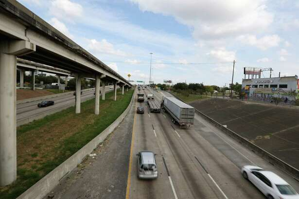 Traffic going on the Northbound lane of Interstate 45 is seen from the Bell Street bridge Friday, Nov. 4, 2016, in Houston. Both northbound and southbound lanes of the freeway will be closed between Interstate 10 and U.S. 59 start from 9 p.m. on Friday, and the freeway is expected to reopen by 5 a.m. Monday.