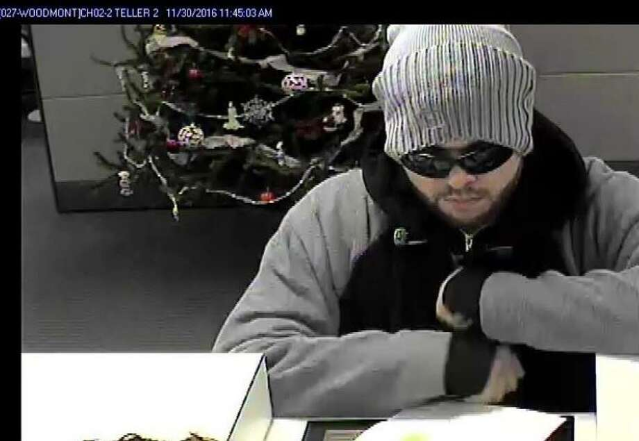 Milford police are looking for this man who held up the Webster Bank on Merwin Avenue in Milford on Wednesday, Nov. 30, 2016. Photo: /