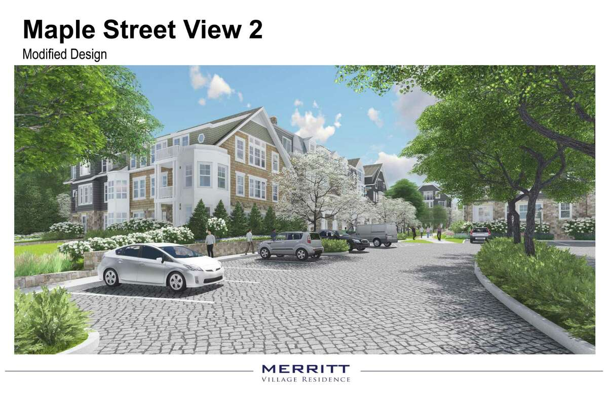 An architectural rendering for M2 Partners' approved Merritt Apartments redevelopment.
