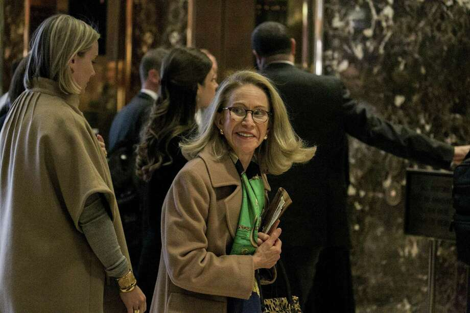 Kathleen Hartnett White, former chairman of the Texas Commission on Environmental Quality, is seen in the lobby at Trump Tower on Fifth Avenue in Manhattan. White, who is on a short list of potential nominees to head the EPA, met with President-elect Donald Trump this week. Photo: Sam Hodgson /New York Times / NYTNS