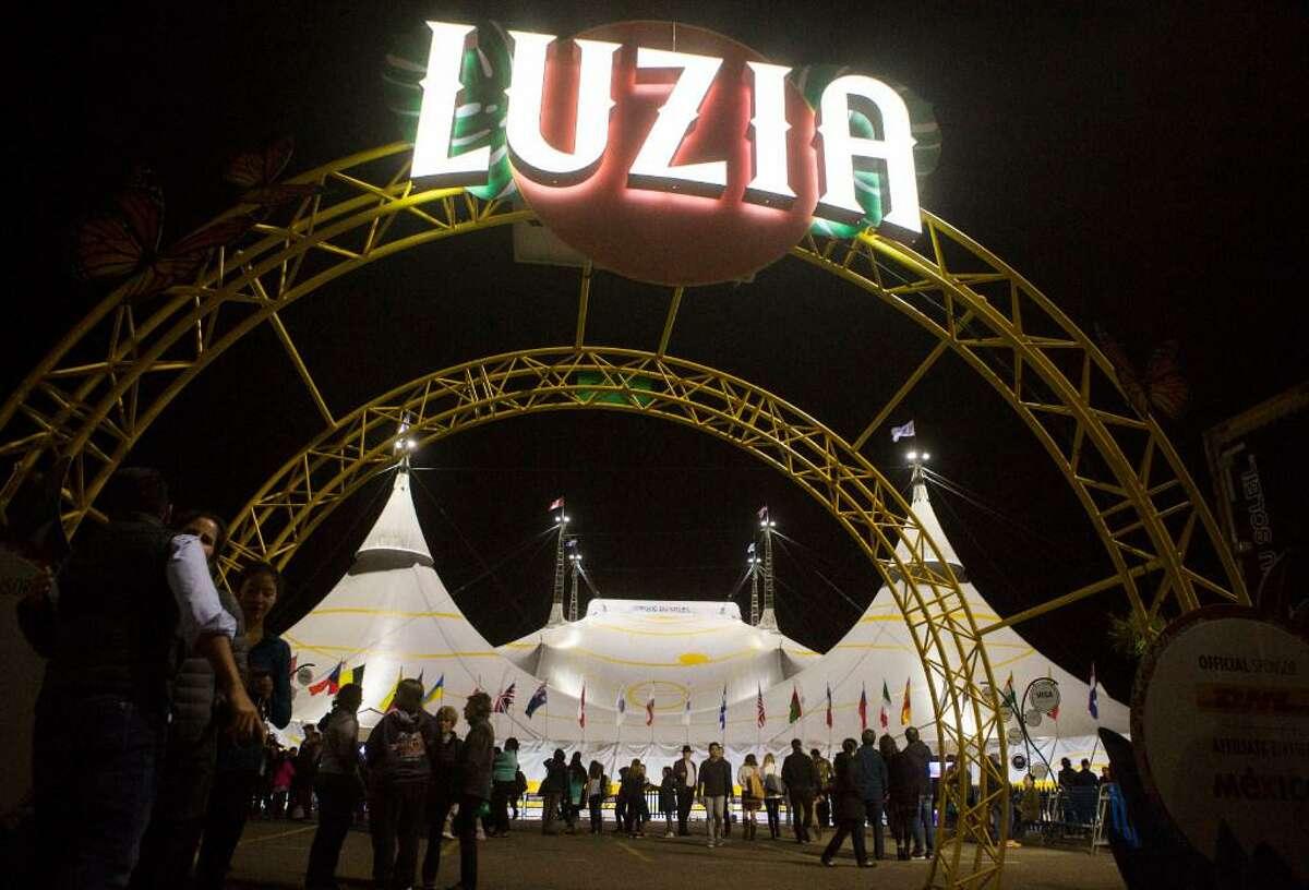 Cirque du Soleil's Luzia opens for dress rehearsal on November 15, 2016 in San Francisco, Calif. A maintenance worker died Tuesday after being hit with a construction lift inside the tent.