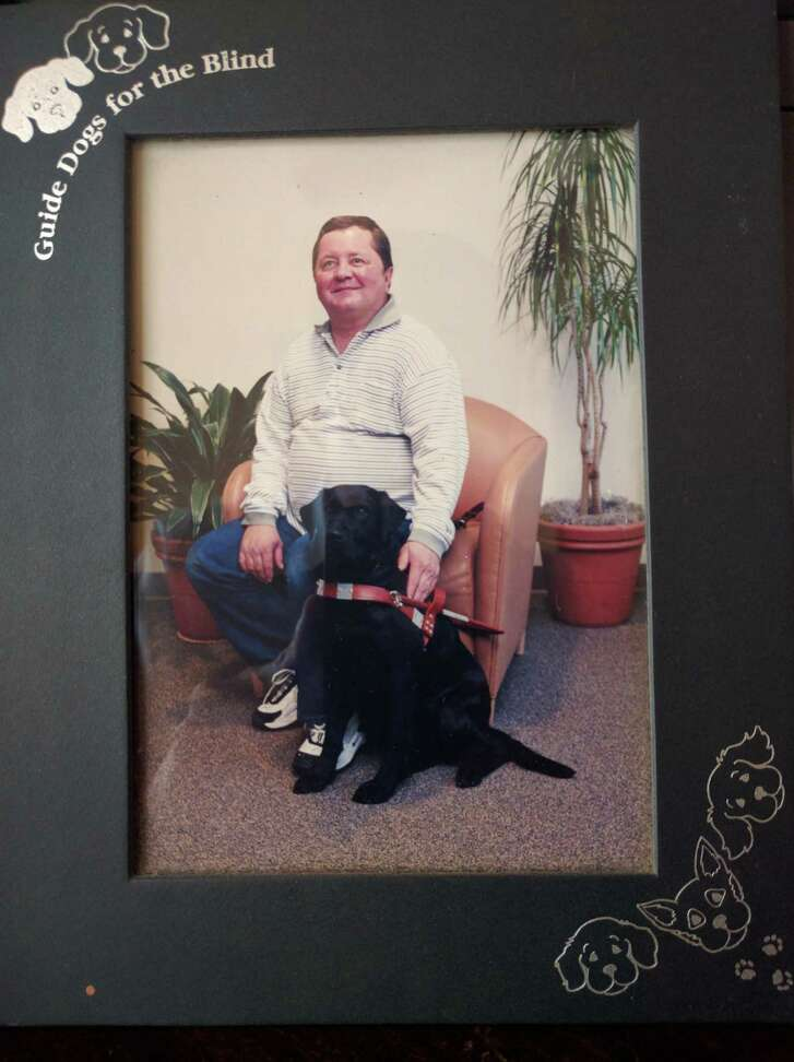 Jerry Hogan, now 65, worked with his guide dog Fantasy until her death at age 13 in 2013. Hogan, who is blind, when into a state of grief after the death of the black lab.