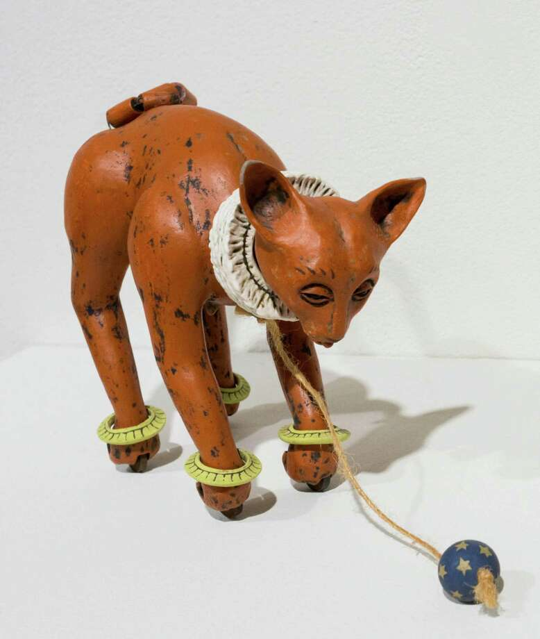 "Melody Ellis' ""2011-14 Pull Toy"" (earthenware, steel)"