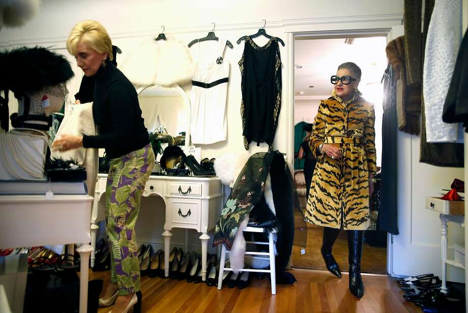 Joy Bianchi assists Lynda Connelly as Connelly shops at Helpers House of Couture in San Francisco, Calif., on Sunday, January 17, 2016. Photo: Scott Strazzante, The Chronicle