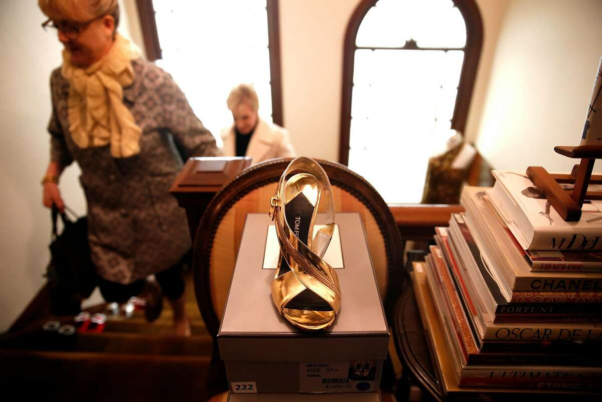 A Tom Ford shoe at Helpers House of Couture in San Francisco, Calif., on Sunday, January 17, 2016.