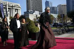 Joy Bianchi walks down the red carpet before the Opera Ball, celebrating the opening night of the San Francisco Opera in September 2016.