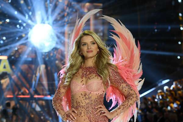 Lily Donaldson walks the runway during the 2016 Victoria's Secret Fashion Show.