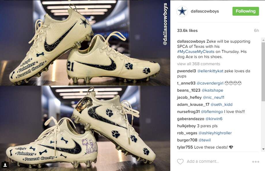 Cowboys players show off their custom cleats for Week 13's campaign.  Photo: Dallas Cowboys