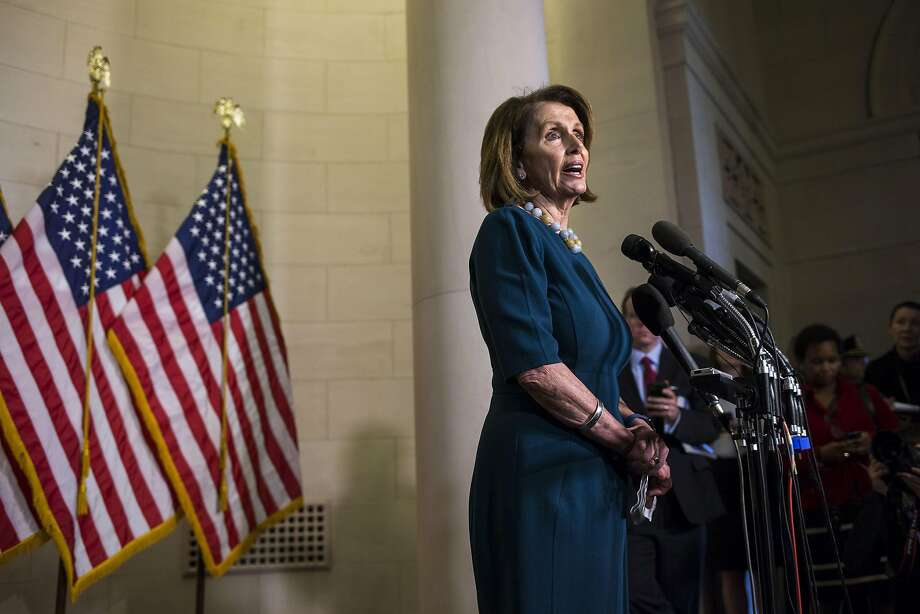 House Minority Leader Nancy Pelosi (D-Calif.) speaks to reporters following the election for House Democratic leader, on Capitol Hill in Washington, Nov. 30, 2016. Pelosi survived an attempt by a fellow Democrat, Tim Ryan, to unseat her amid anxiety over their party�s setbacks. (Al Drago/The New York Times) Photo: AL DRAGO, NYT