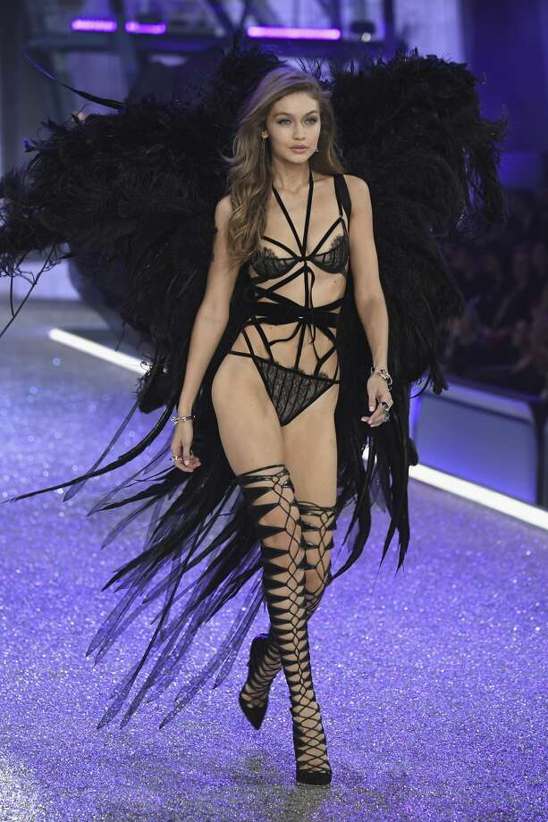 Gigi Hadid walks the runway at the Victoria's Secret Fashion Show. Can you see what broke?  Photo: Pascal Le Segretain/Getty Images For Victoria's Secret