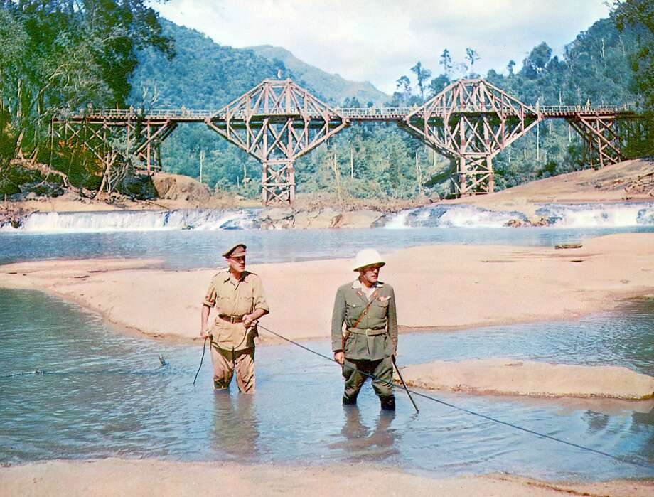 The Bridge On the River Kwai: Alec Guinness and Sessue Hayakawa Photo: Columbia Pictures 1957
