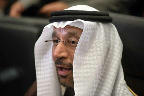 Khalid Al-Falih, Saudi Arabia's energy and industry minister, speaks to journalists before OPEC's meeting in November.