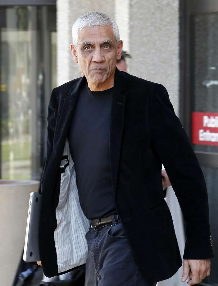 In this May 12, 2014, file photo, Sun Microsystems co-founder Vinod Khosla leaves San Mateo County Superior Courthouse after testifying in Redwood City, Calif. Photo: Karl Mondon, Associated Press
