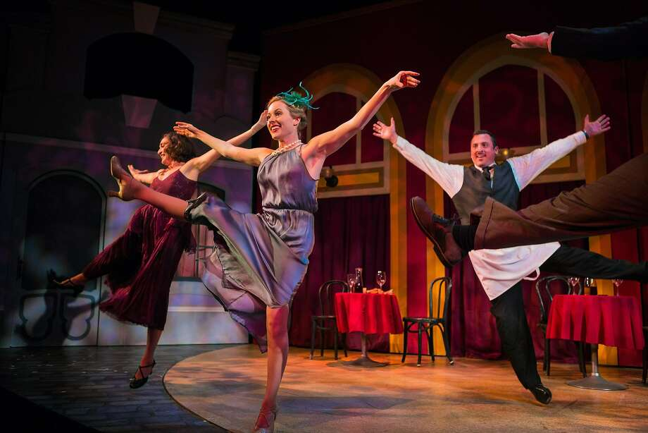 "Ayelet Firstenberg, Leah Shesky and Joseph Estlack dance in a restaurant in SF Playhouse's ""She Loves Me."" Photo: Jessica Palopoli, San Francisco Playhouse"