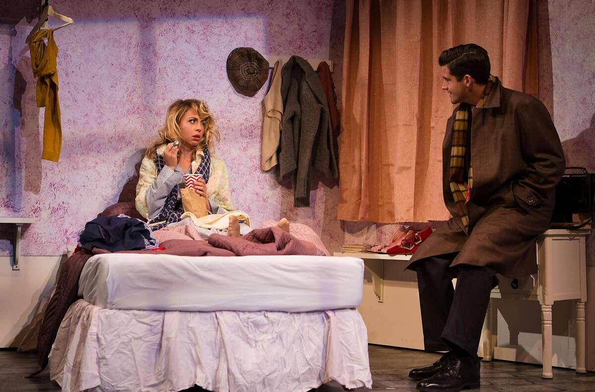 "Amalia Balash (Monique Hafen) eats ice cream with Georg Nowack (Jeffrey Brian Adams) in SF Playhouse's ""She Loves Me."""