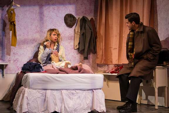 "Amalia Balash (Monique Hafen) eats ice cream with Georg Nowack (Jeffrey Brian Adams) in SF Playhouse's ""She Loves Me."""