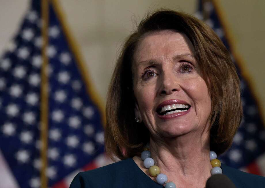House Minority Leader Nancy Pelosi of Calif., speaks to reporters following the House Democratic Caucus elections on Capitol Hill in Washington, Wednesday, Nov. 30, 2016, for House leadership positions. Rep. Tim Ryan, D-Ohio, challenged Pelosi, but lost, 134-63. (AP Photo/Susan Walsh) Photo: Susan Walsh, STF / Copyright 2016 The Associated Press. All rights reserved.