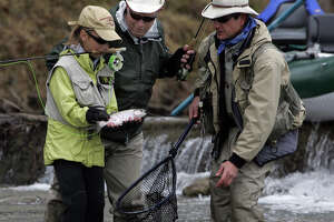 Anglers targeting stocked rainbow trout in the Guadalupe River below Canyon Lake will have four new public access points thanks to lease agreements between streamside landowners and TPWD.
