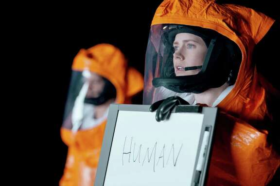 """Amy Adams plays Dr. Louise Banks, who is recruited to help communicate with a race of extraterrestrials in """"Arrival."""""""