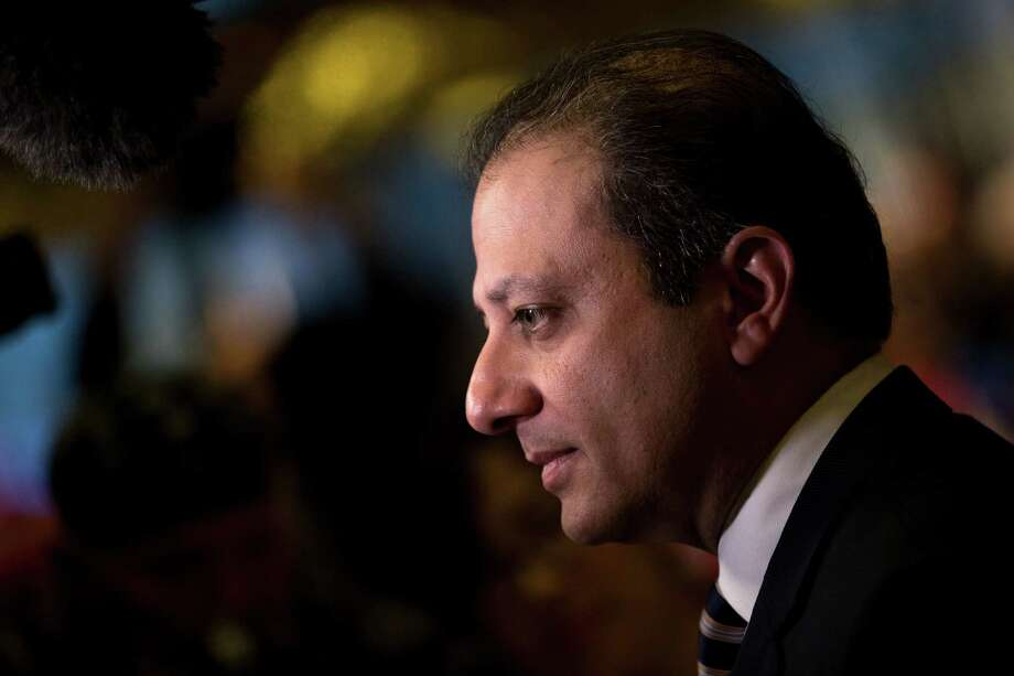 NEW YORK, NY - NOVEMBER 30: Preet Bharara, U.S. Attorney for the Southern District of New York, speaks briefly to reporters at Trump Tower, November 30, 2016 in New York City. President-elect Donald Trump and his transition team are in the process of filling cabinet and other high level positions for the new administration. (Photo by Drew Angerer/Getty Images) ORG XMIT: 684695965 Photo: Drew Angerer / 2016 Getty Images