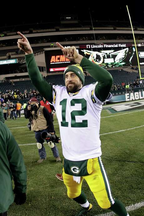 Quarterback Aaron Rodgers was feeling relieved after Monday night's victory over the Eagles, but the 5-6 Packers still have plenty of work to return to the playoffs. Photo: Michael Perez, FRE / FR168006 AP