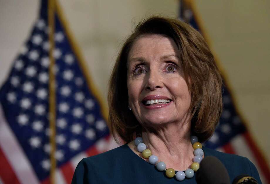 House Minority Leader Nancy Pelosi of Calif., speaks to reporters following the House Democratic Caucus elections on Capitol Hill in Washington, Wednesday, Nov. 30, 2016, for House leadership positions. Rep. Tim Ryan, D-Ohio, challenged Pelosi, but lost, 134-63. (AP Photo/Susan Walsh) ORG XMIT: DCSW123 Photo: Susan Walsh / Copyright 2016 The Associated Press. All rights reserved.