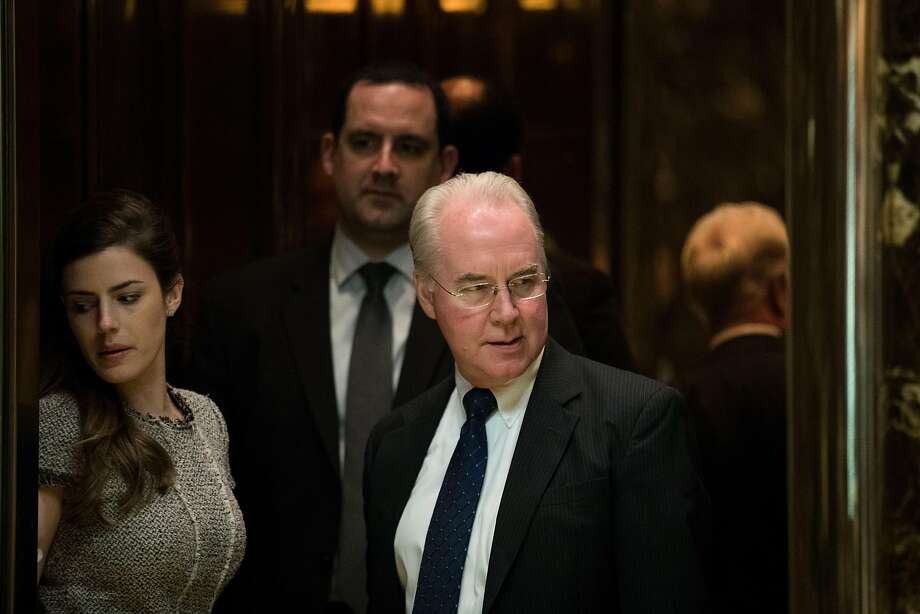 NEW YORK, NY - NOVEMBER 16: Rep. Tom Price gets into an elevator at Trump Tower, November 16, 2016 in New York City. President-elect Donald Trump and his transition team are in the process of filling cabinet positions for the new administration. (Photo by Drew Angerer/Getty Images) Photo: Drew Angerer, Getty Images