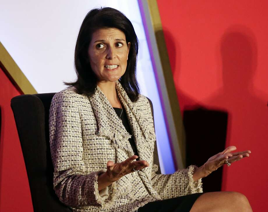 South Carolina Gov. Nikki Haley speaks during a plenary session at the Republican Governors Association annual conference, Tuesday, Nov. 15, 2016, in Orlando, Fla. (AP Photo/John Raoux) Photo: John Raoux, Associated Press