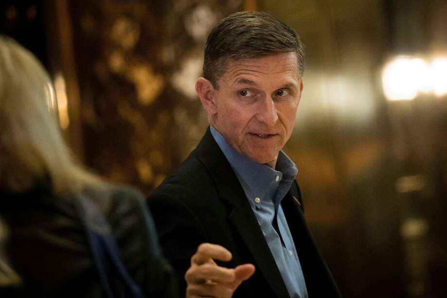 NEW YORK, NY - NOVEMBER 29: Retired Lt. Gen. Michael Flynn, President-elect Donald Trump's choice for National Security Advisor, walks through the lobby at Trump Tower, November 29, 2016 in New York City. President-elect Donald Trump and his transition team are in the process of filling cabinet and other high level positions for the new administration. (Photo by Drew Angerer/Getty Images) Photo: Drew Angerer, Getty Images