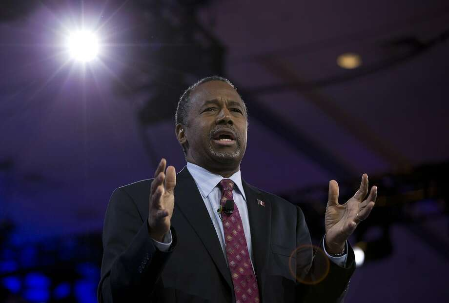 Republican presidential candidate Ben Carson speaks during the Conservative Political Action Conference (CPAC), Friday, March 4, 2016, in National Harbor, Md. (AP Photo/Carolyn Kaster) Photo: Carolyn Kaster, AP