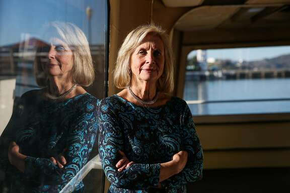Carolyn Horgan, the retiring president of Blue and Gold fleet, stands for a portrait, on one of her boats at Pier 39, in San Francisco, California, on Tuesday, Nov. 29, 2016.