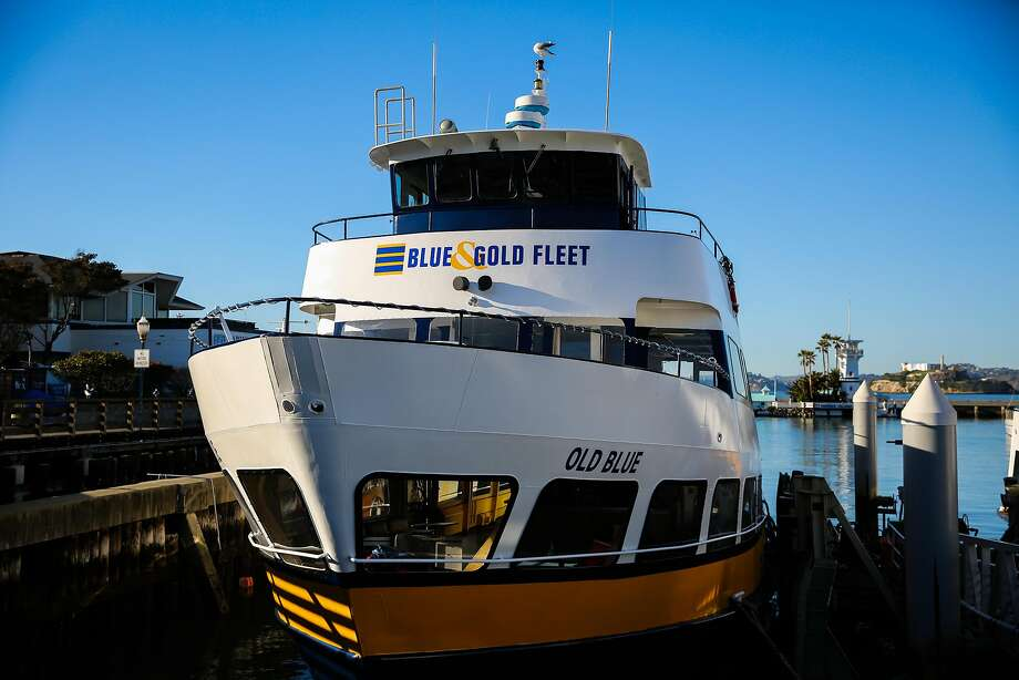 A Blue and Gold fleet boat at Pier 39. Photo: Gabrielle Lurie, The Chronicle