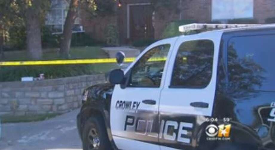 A teen was arrested after two people were found dead in a home in Crowley, Texas. Screenshots: CBS Dallas-Fort Worth Photo: CBS Dallas-Fort Worth