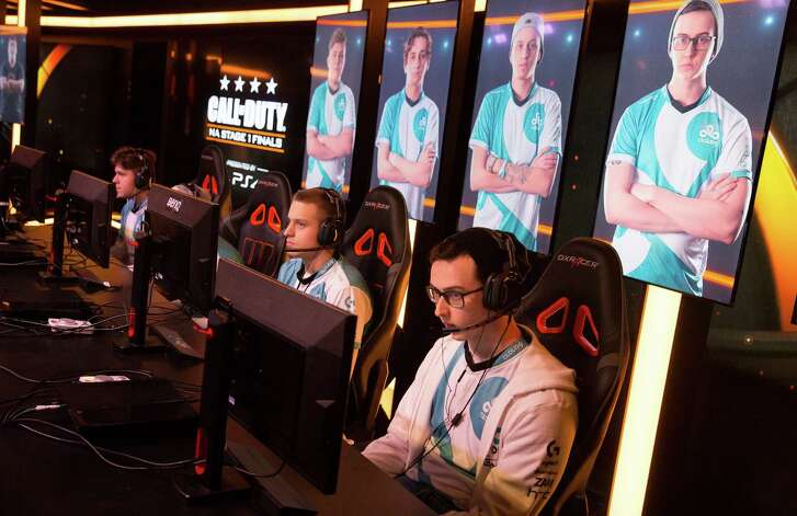 Cloud 9 Eclipse faces off against Dream Team in Call of Duty World League play in Burbank, Calif., on April 1, 2016. Large venues are now catering to e-sports fans.