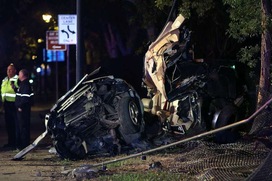 One person was killed and a second was injured during a one-car accident on Wednesday, Nov. 30 in the 5000 block of NASA Parkway. Photo: Kar Hlava/Bay Area Citizen