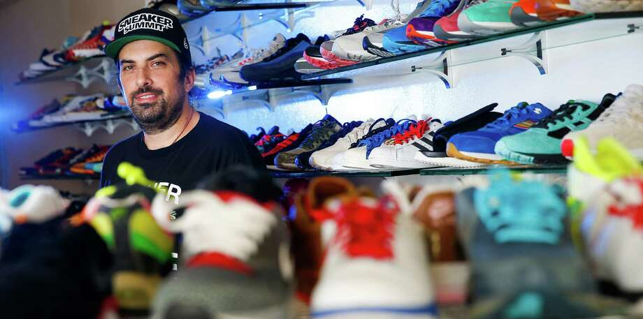 Bryan Angelle, founder of The H-Town Sneaker Summit, says sneaker trends have changed over the years, moving from sports stars to entertainers. Photo: Michael Ciaglo, Staff / © 2016  Houston Chronicle