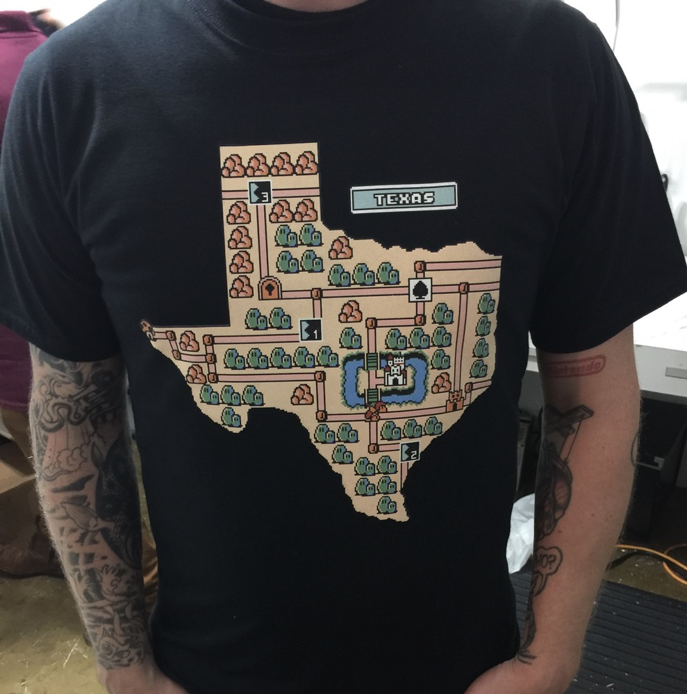 Nintendo Loving Houston T Shirt Designer Reimagines Texas As A Mario