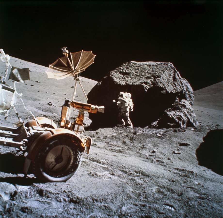 A team of German scientists want to return to the Apollo 17 Moon landing site.Click through to see Moon landing hoax myths explained.
