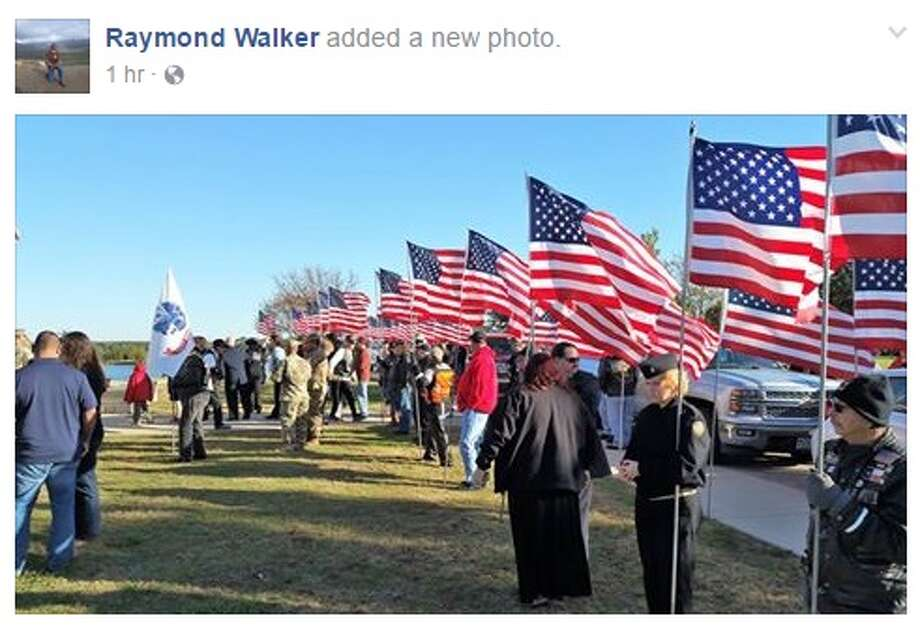 About 250 people gathered at the Killeen funeral of Galen Bruce Pearson, a 23-year Army veteran, when the local newspaper announced the man did not have any blood family members to attend his services on Nov. 30, 2016. Photo: Facebook.com/raymond.walker.3532