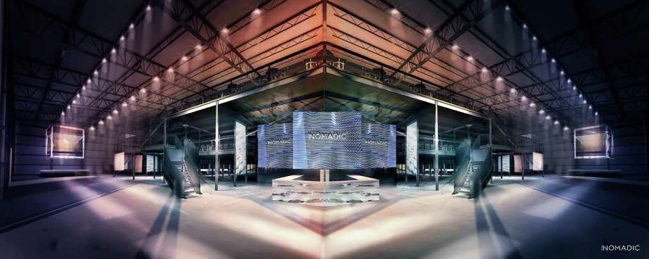 Renderings of Club Nomadic, which will be constructed in Houston for the Super Bowl. Photo: Courtesy