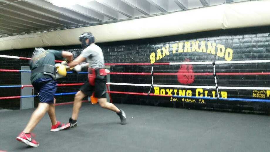 Boxers work out at venerable San Fernando Gym in San Antonio in 2016. Photo: John Whisler / San Antonio Express-News