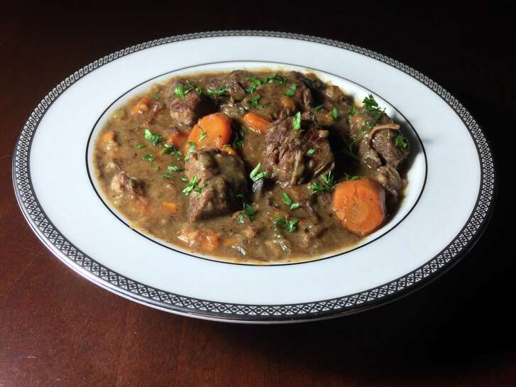 Nothing warms a cold winter day like beef stew. This one features carrots and mushrooms.