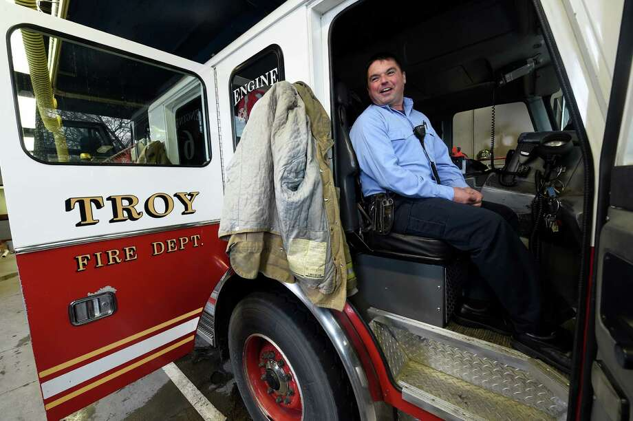 Retiring Captain Mike Spinelli sits in his seat in Engine 6 on Thursday, Dec. 1, 2016, at the Engine 6 quarters in Troy, N.Y. Spinelli retired on Thursday after 30 years with Troy Fire Department.  (Skip Dickstein/Times Union) Photo: SKIP DICKSTEIN / 20039005A