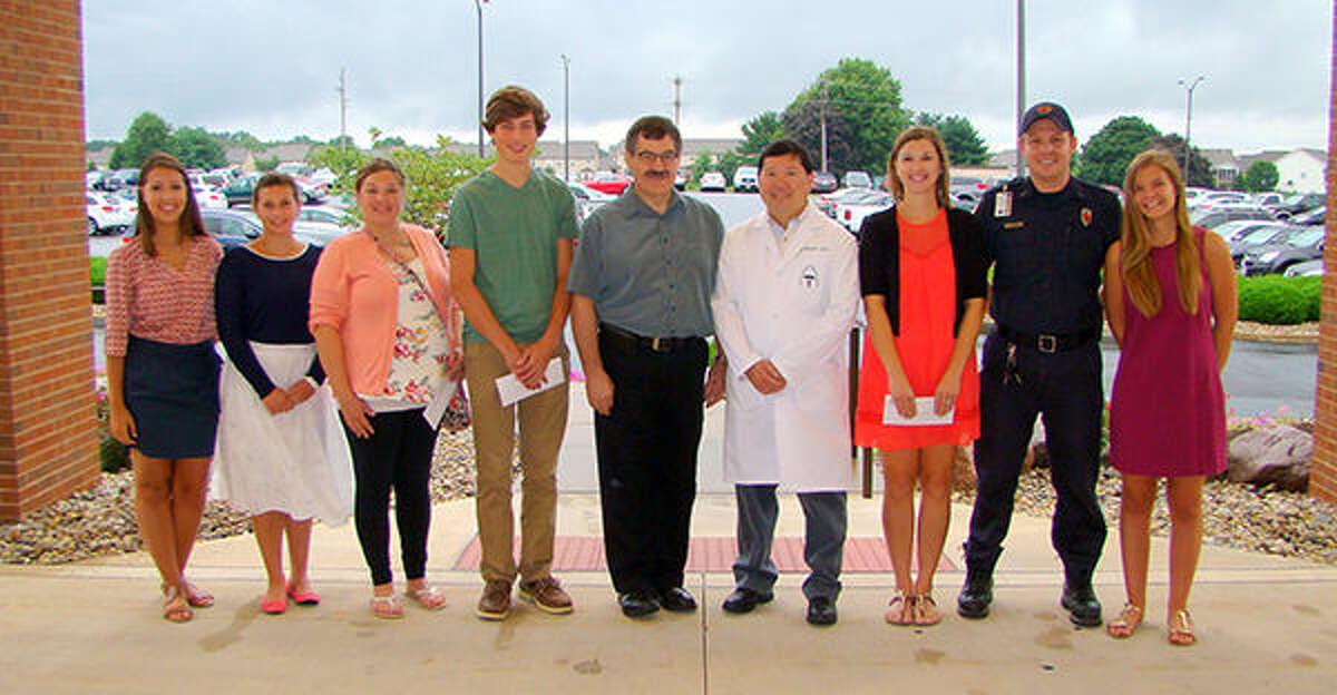 Abigail Kassing; Madison Harris; Brenda Whiteley; Jacob Troeckler; Dr. Max Eakin, Medical Staff; Dr. Scott Wong, Medical Staff; Tara Huebner; Derek Sonnenberg; and Hanna Beck.