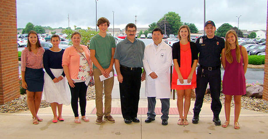 Abigail Kassing; Madison Harris; Brenda Whiteley; Jacob Troeckler; Dr. Max Eakin, Medical Staff; Dr. Scott Wong, Medical Staff; Tara Huebner; Derek Sonnenberg;  and Hanna Beck.