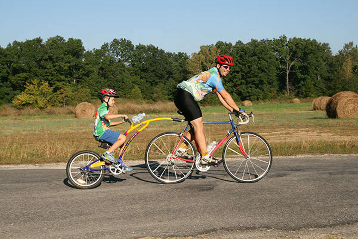 Pictured are riders in a previous Tour de Coal.